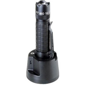 Maglite Mag-Tac Crowned Bezel Rechargeable LED Flashlight - Black
