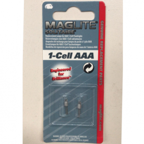 Maglite Solitaire Bulb Replacement Part - Two Per Card